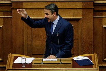 Greek conservative New Democracy party leader Mitsotakis submits a motion of no confidence against Prime Minister Alexis Tsipras
