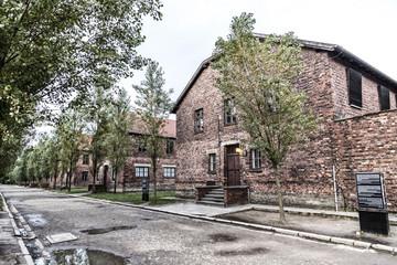 Historic buildings in the Auschwitz I (Auschwitz-Birkenau), former Nazi concentration camp near Oswiecim city, Poland
