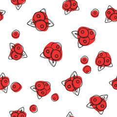 Сranberry seamless pattern