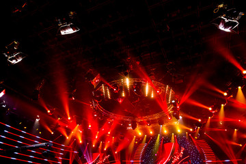 Stage lights - Studio prepared for  TV show