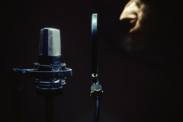 In Front of a Microphone