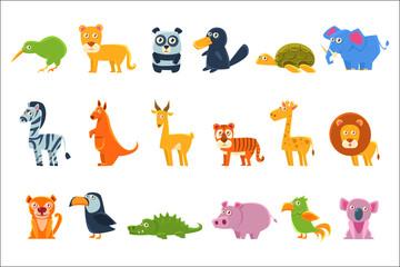 Exotic Animals Fauna Set