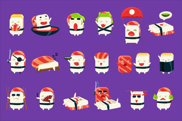 Humanized Sushi Character Japan Themed Activities Set