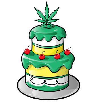 jamaican cake  cartoon isolated on white
