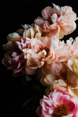 Bouquet of peonies.