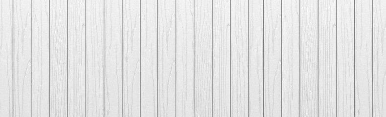 Panorama of Vintage white wood wall background seamless