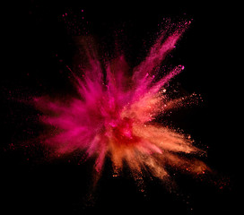 Explosion of coloured powder