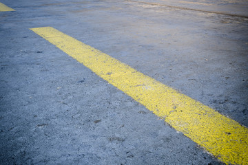 Road without bloodstain after an accident - 3D rendering
