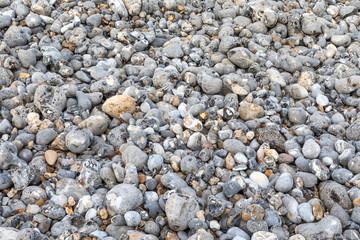 Detail of a flint pebble beach