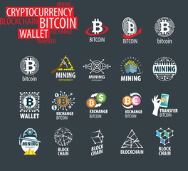 vector icon set for cryptography