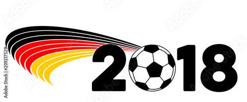 Hintergrund Deutschland Flagge Fussball Wm 2018 Stock Photo