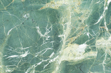 Green marble texture with light veins. Perfect natural pattern for background or tile