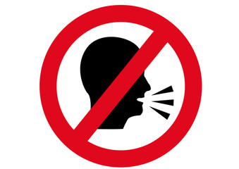 Schild lautes Sprechen verboten