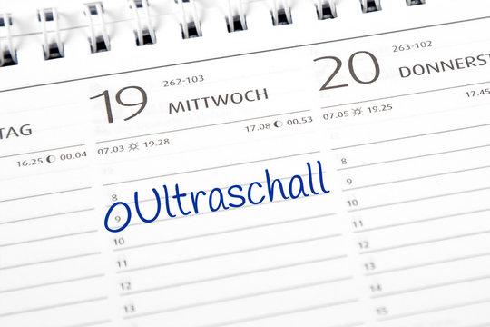 Eintrag im Kalender: Ultraschall