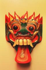 masque de Bali en bois