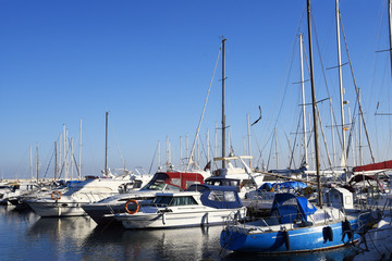 The Marina and Port of Fuengirola on the Costa Del Sol Spain is a resort with a long beach, shops and all the facilities for holiday fun.