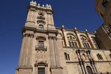 The Cathedral of Malaga in the city of Malaga in Andalucia in southern Spain. It is in the Renaissance architectural tradition.