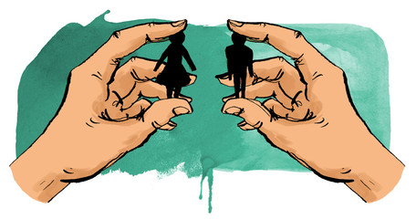 Hände halten Mann und Frau zusammen