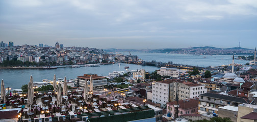Beautiful View on Bosphorus Channel in Istanbul