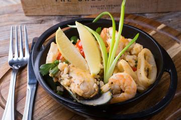Seeafod paella rice