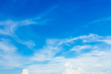 blue sky background texture with white clouds.