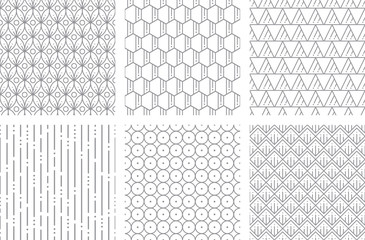 Seamless Geometric Pattern Two Gray