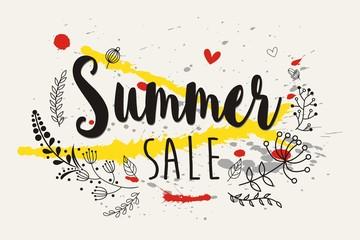 Summer sale on elegant floral frame