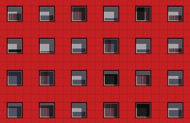 façade - immeuble - façade d'immeuble - logement - appartement - HLM - urbanisme - banlieue