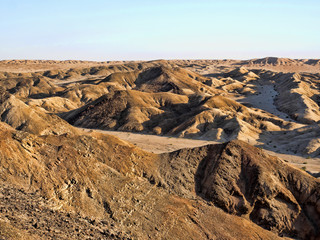 View of Desert Landscape Moon landscape Namibia