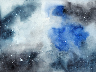 Abstract watercolor blue and gray texture. Background for design