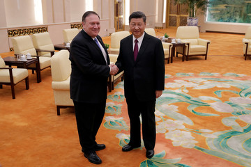 U.S. Secretary of State Pompeo and China's President Xi meet in Beijing