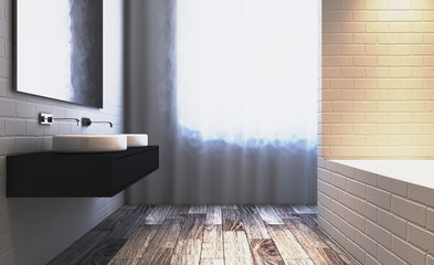 Abstract  toilet and bathroom interior for background. 3D rendering.