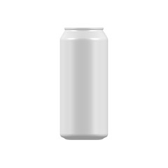 blank aluminum soda can isolated on white background. vector soda or beer can mock up