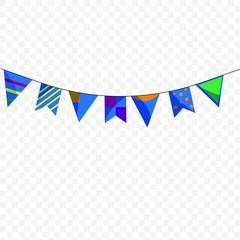 Illustration einer bunten Wimpelkette