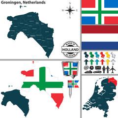 Map of Groningen, Netherlands