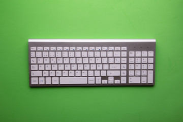 computer keyboard on colorful background