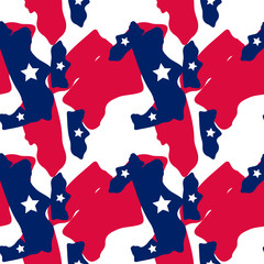 Abstract camo background in national USA colors - white, red and navy blue