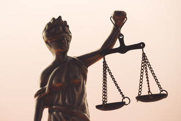 Statue of lady Justice or Justitia