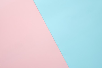 Pink and light blue pastel paper color for background