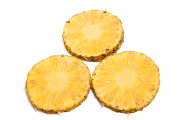 pineapple sliced isolated