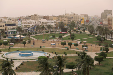 View of the Red Sea port city of Hodeidah