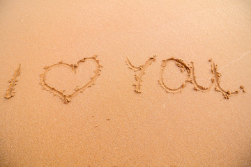 "Sign ""I love you"" on the beach in Portugal"