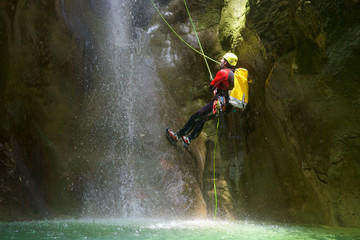 Canyoning in Spain Wall mural