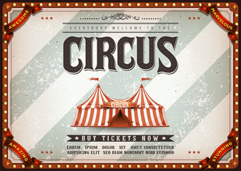 Vintage Design Horizontal Circus Poster/