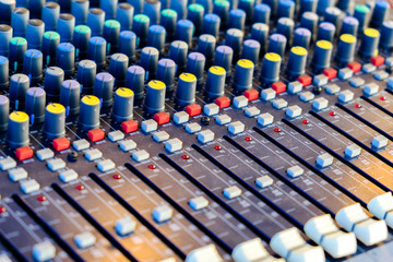 The sound engineer's console.