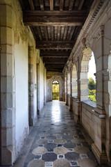 Couloir exterieur du chateau de Bruniquel,Tarn, Midi-Pyrénées, Occitanie, France
