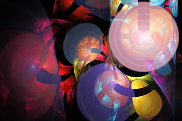 Fractal image: magic balls.
