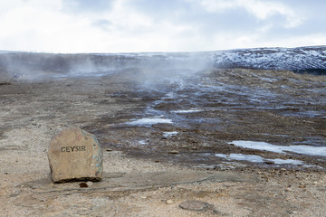 The famous Geysir