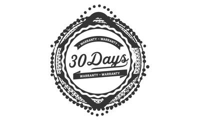 30 days  warranty icon stamp