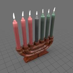 Kwanzaa candelabra
